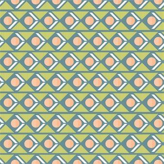 Mélange de motifs sans soudure géométriques doux et pastel avec une rayure de triangle de cercle dans la conception d'humeur rétro horizontale pour la mode, le tissu, le papier peint, l'emballage et tous les imprimés