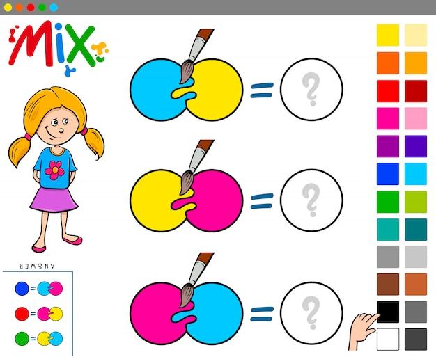 Mélanger les couleurs du jeu éducatif pour les enfants