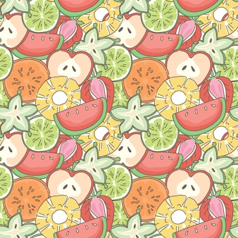 Mélanger les fruits sans soudure de fond