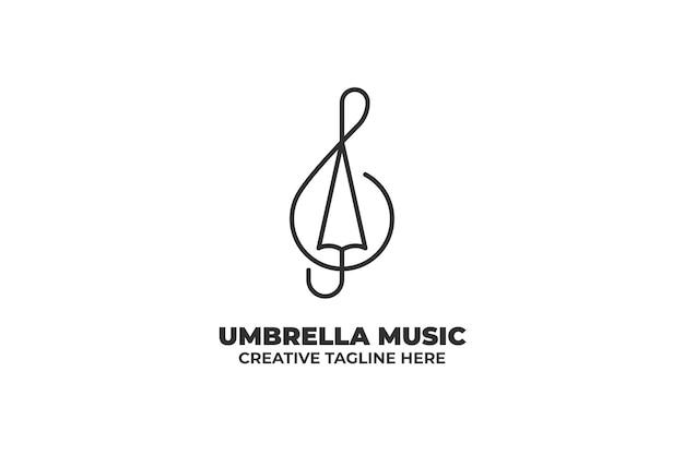 Mélodie musique parapluie monoline business logo