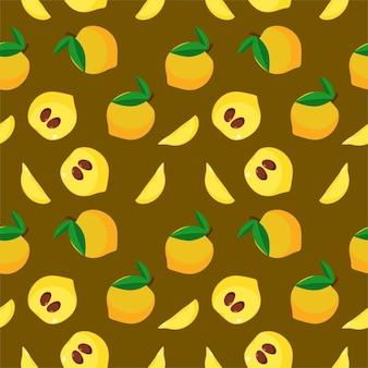 Melon aux fruits sans couture coloré