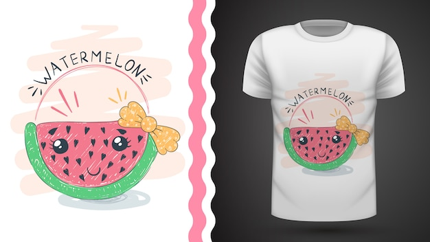 Melon d'eau mignon - idée d'imprimer un t-shirt