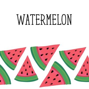 Melon d'eau style illustration nourriture fruit sucré
