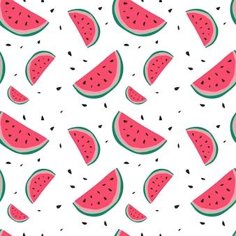 Melon d'eau transparente motif coloré été ornement style fond