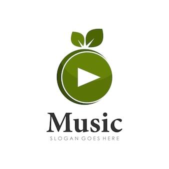 Melon musique jouer logo design