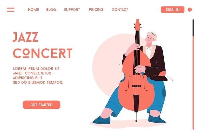 Membre du groupe de jazz jouant de la musique au festival, concert ou sur scène