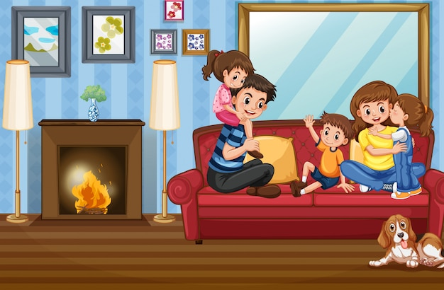 Membre de la famille à la maison