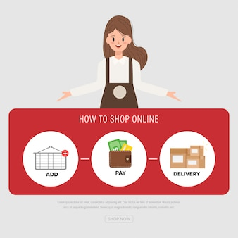 Les membres du personnel posent pour magasiner en ligne.