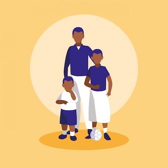 Membres de la famille ensemble des personnages