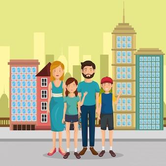 Membres de la famille à l'extérieur des personnages