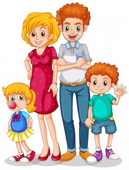 Membres de la famille avec parents et enfants