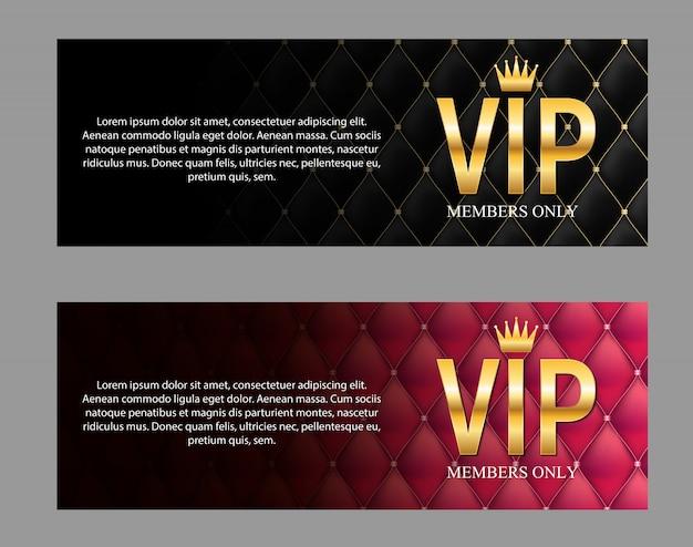 Membres de luxe, bannière de membres vip