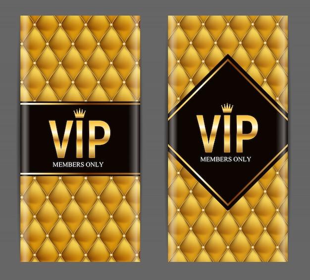 Membres de luxe, ensemble d'invitations pour cartes-cadeaux vip
