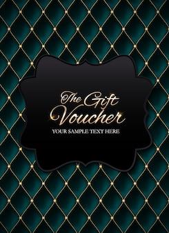 Membres de luxe, modèle de bon cadeau