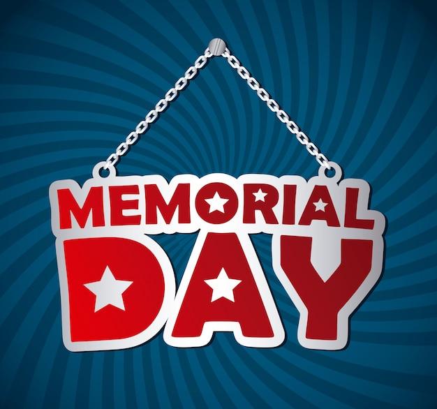 Memorial day design over illustration vectorielle de fond