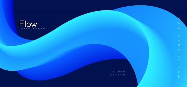 Memphis abstrait bleu