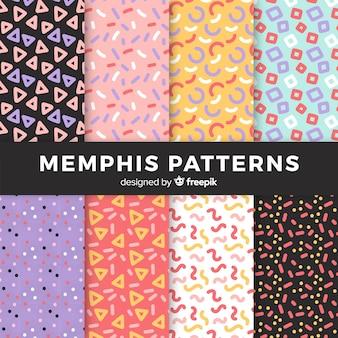 Memphis collection de modèles sans couture