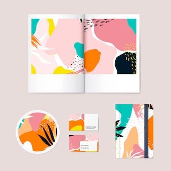 Memphis design pattern company vecteur de marque