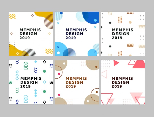 Memphis design template