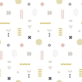 Memphis seamless pattern en couleur pastel.