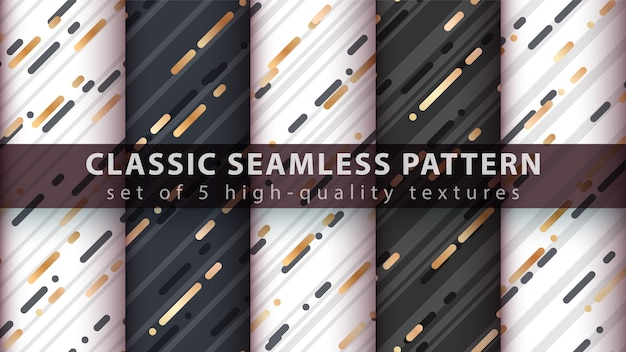 Memphis seamless pattern - définissez cinq éléments.
