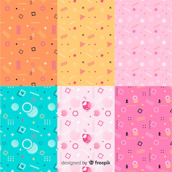 Memphis seamless pattern pack