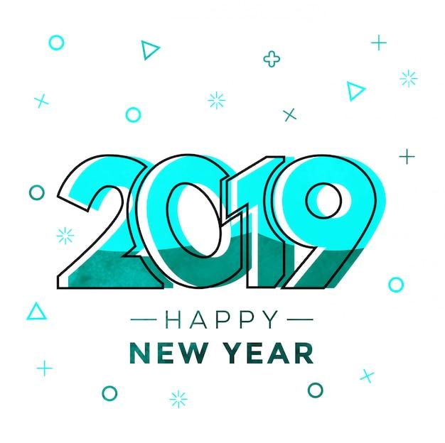 Memphis style bonne année 2019