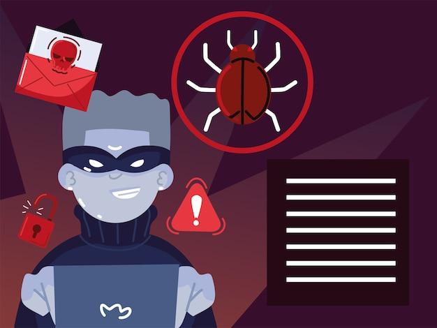 Menace de pirate informatique en ligne