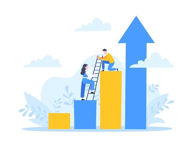 Le mentor d'affaires aide à améliorer la carrière de travail