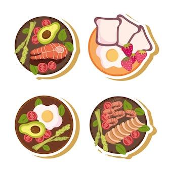 Menu d'aliments sains