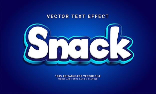 Menu d'aliments sucrés sur le thème de l'effet de style de texte modifiable de collation avec la couleur bleue