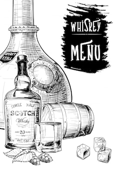 Menu basé sur les activités liées au whisky