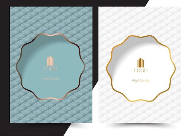 Menu de couverture géométrique de luxe