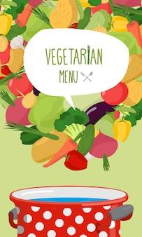 Menu de couverture de légumes
