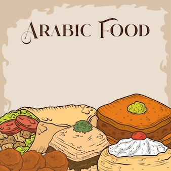 Menu de la cuisine arabe