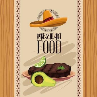 Menu de la cuisine mexicaine