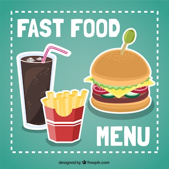 Menu fast-food