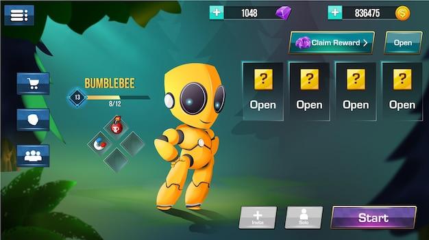 Le Menu De L'interface Utilisateur Du Jeu Fantasy Apparaît Vecteur Premium