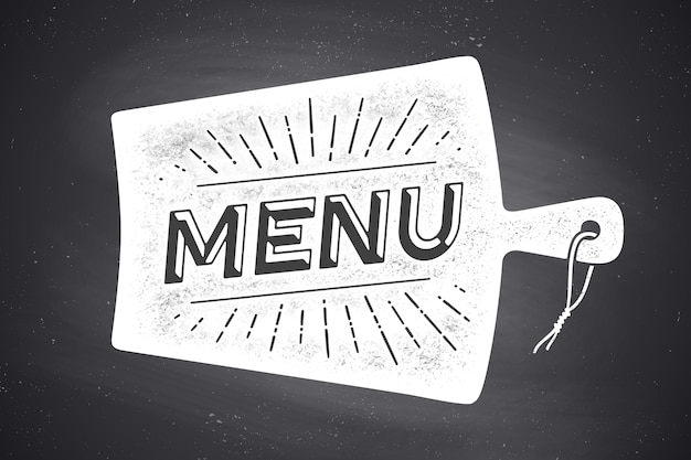 Menu, lettrage. décoration murale, affiche, signe. affiche pour la conception de la cuisine