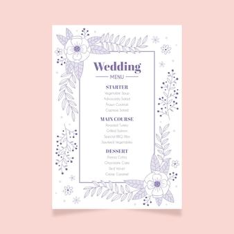 Menu de mariage floral