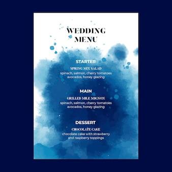 Menu de mariage de style minimaliste