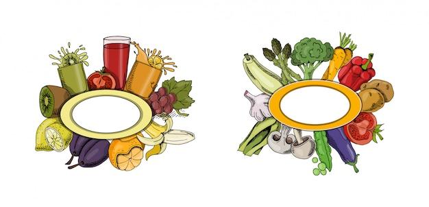 Menu de la nourriture collection automne