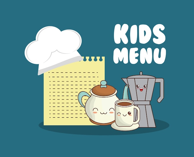 Menu pour enfants set ustensiles de cuisine