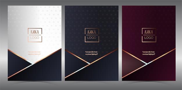 Menu premium de couverture de luxe géométrique