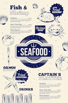 Menu de restaurant créatif pour une utilisation numérique