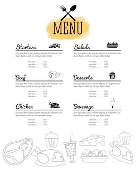 Menu restaurant cuisine icône