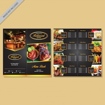 Menu de restaurant design de livre