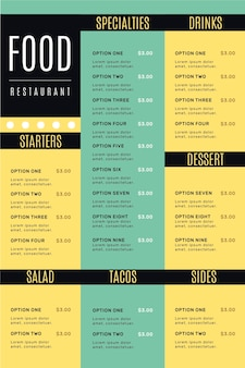 Menu de restaurant numérique