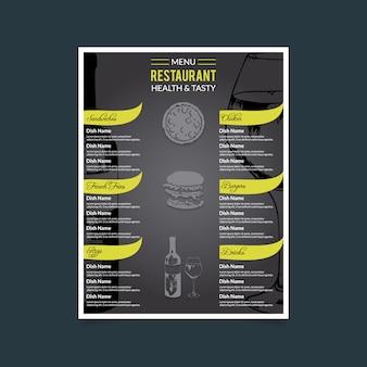 Menu restaurant salutaire