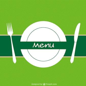 Menu de restaurant vecteur de fond